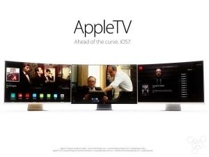 苹果电视概念结合 : 曲面外形+类iOS 7界面