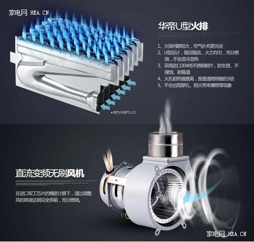 华帝燃气热水器 打造强排,冷凝双技术合一