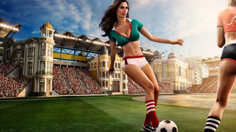 足球宝贝性感来袭 巴西世界杯创意海报