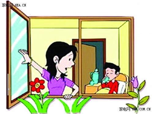 开了空调要适时开窗通风,保证空气流畅,避免空气混浊污染,女性在夏季
