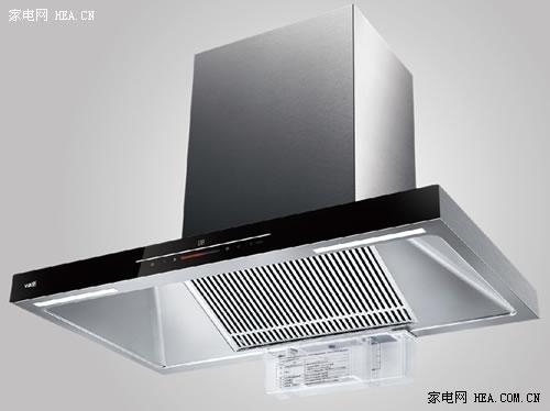 华帝热炫烟机e618ah采用了典型的欧式塔形设计