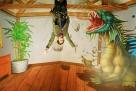现实版美女勇闯侏罗纪,软硬兼施斗恐龙。