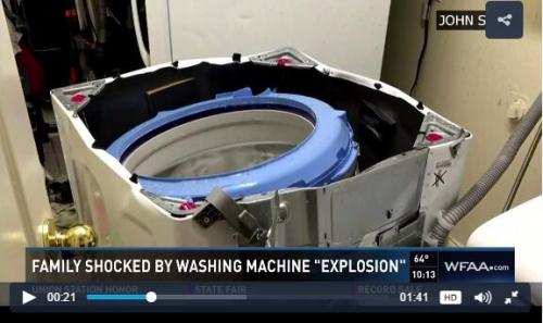 三星又出王炸 洗衣机在美爆炸召回