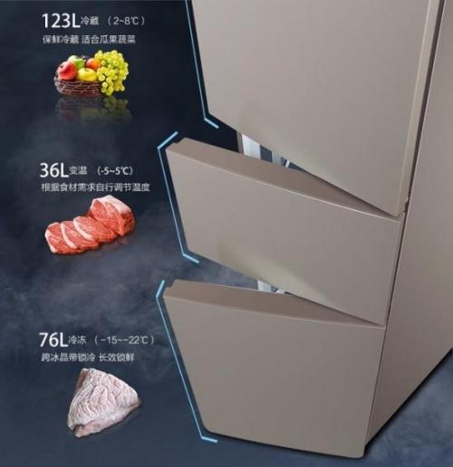 一般冰箱都具有冷藏、冷冻、变温三个间室