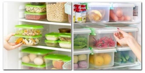 冷藏抽屉不够用 可以使用保鲜盒来替代