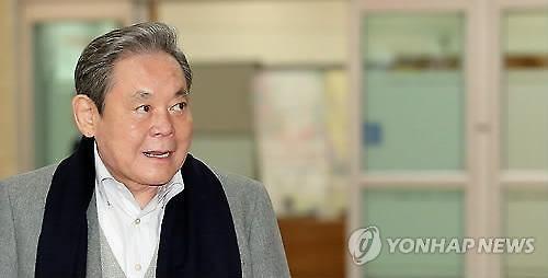 三星会长李健熙。图片来源:韩联社