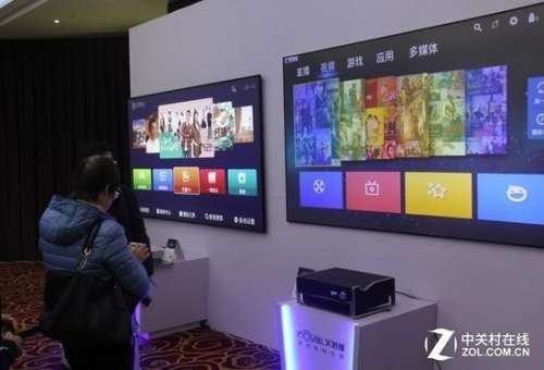 激光电视配置了智能系统