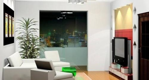 只有十平米的小客厅并不适合激光电视的百吋大屏