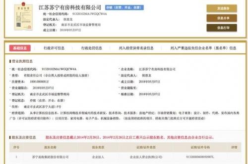 苏宁有房科技有限公司工商信息