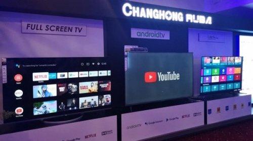 长虹首次在巴基斯坦发布全面屏电视